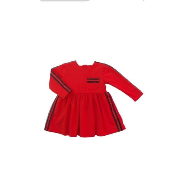 NINI RED JERSEY DRESS WITH BAG