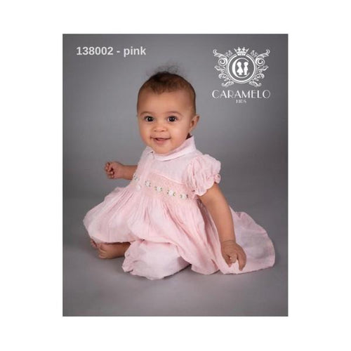 CARAMELO PINK BABY SMOCKED TWO PIECE