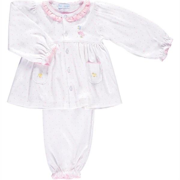 MINI-LA-MODE JEMIMA PUDDLE DUCK PINK SPOT PYJAMAS