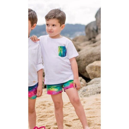 CARMENCITAS MISSONI INSPIRED BOYS TOP & SHORT SET