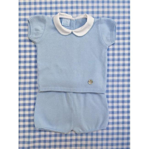GRANLEI BLUE BOYS KNITTED TWO PIECE SET