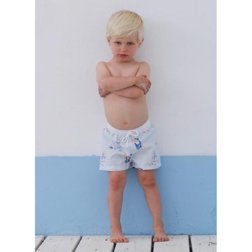 SAL & PIMENTA SAILOR BEARS SWIM SHORTS