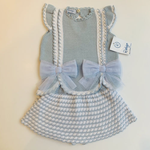 RAHIGO BABY BLUE / WHITE VALETINA TWO PIECE SET