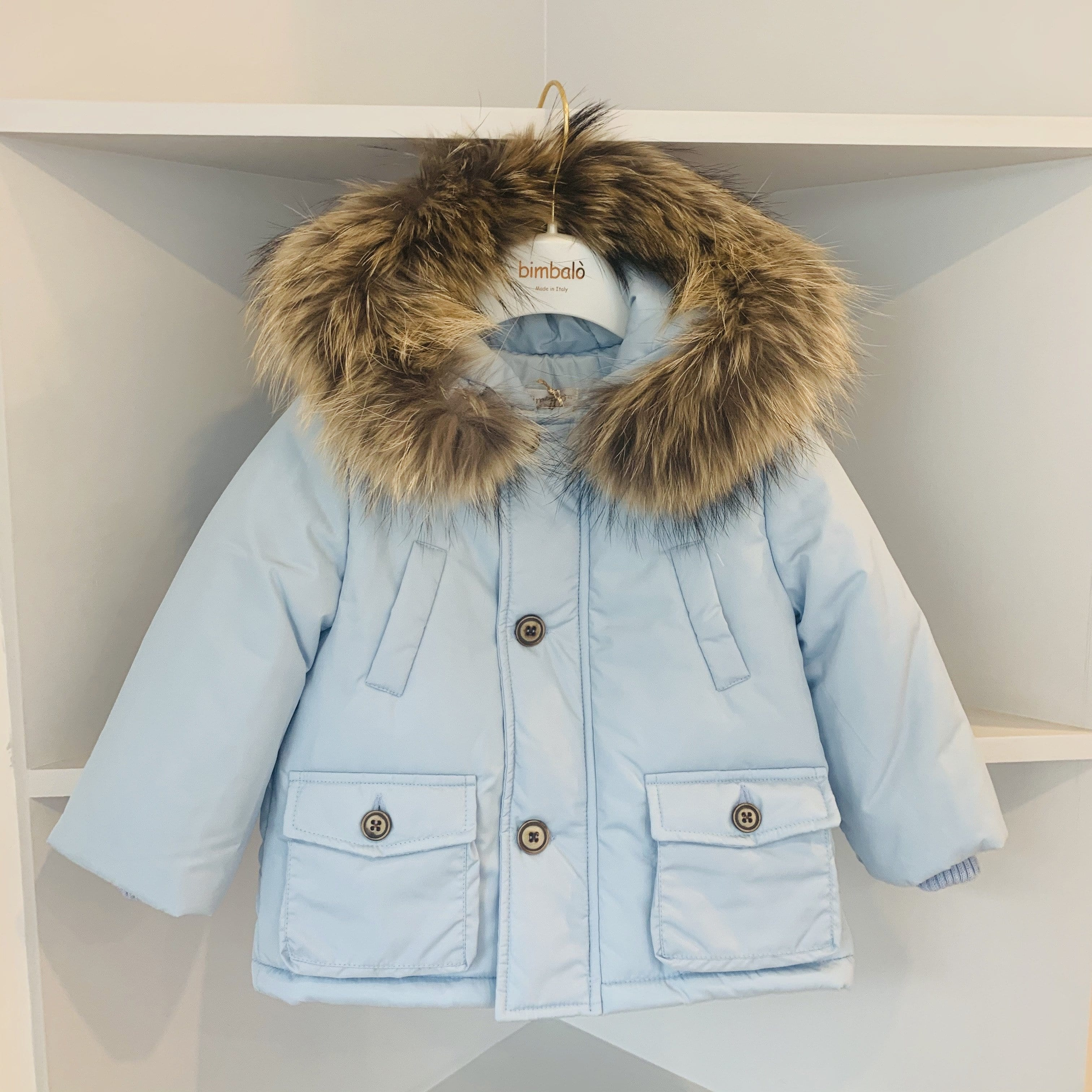 BIMBALO BABY BLUE BOYS COAT