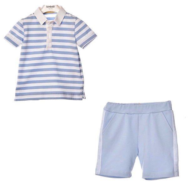 BIMBALO Stripe Polo &  Short Set