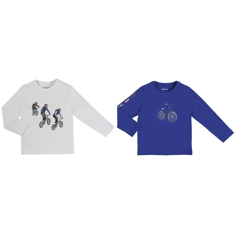 MAYORAL BYCLE LONG SLEVE T SHIRT TWO PACK