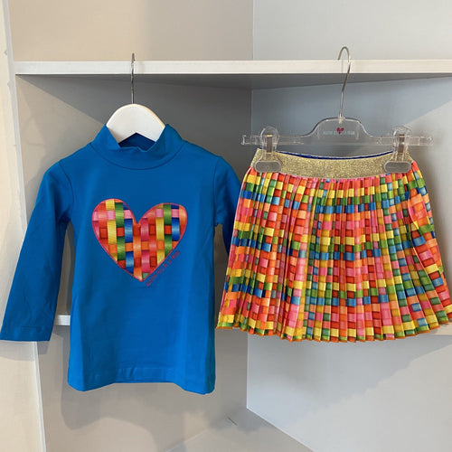 AGATHA RUIZ DE LA PRADA HEART TOP AND PLEATED SKIRT