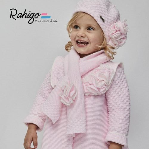 RAHIGO ELIZABETH BABY PINK COAT SET INCLUDING HAT & SCARF