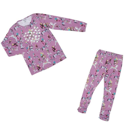 HAPPY CALEGI KYA CAROUSEL & BALLOON PRINT TOP & LEGGING SET