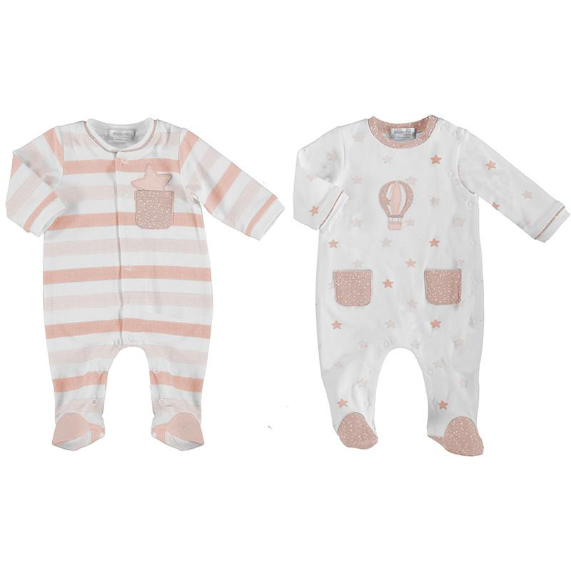 MAYORAL - Air Balloon Babygrow 2 Pack - Pink