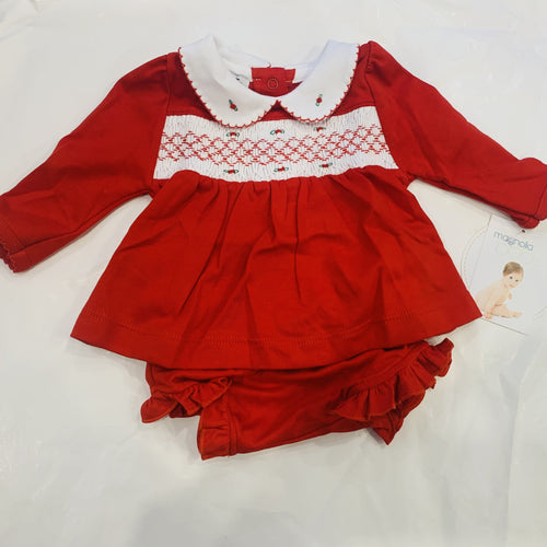 JULIE & JAME'S GIRL'S CLASSICS SMOCKED DRESS
