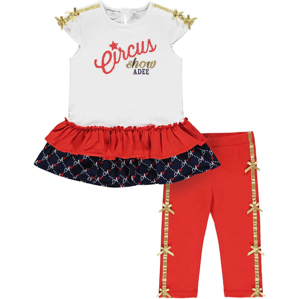 A DEE - Molly Leggings Set - White/Red