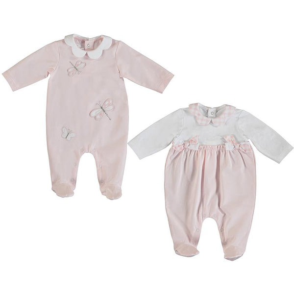 MAYORAL - Dragonfly Babygrow 2 Pack - Pink/White