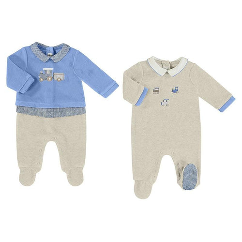 MAYORAL TRAIN BABYGROW 2 PACK