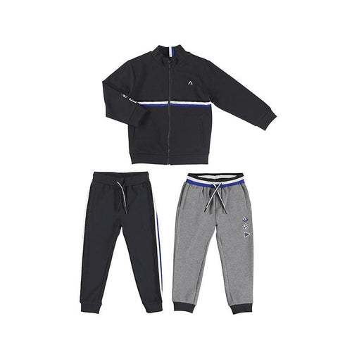 MAYORAL COAL STRIPED TWO PANT TRACKSUIT