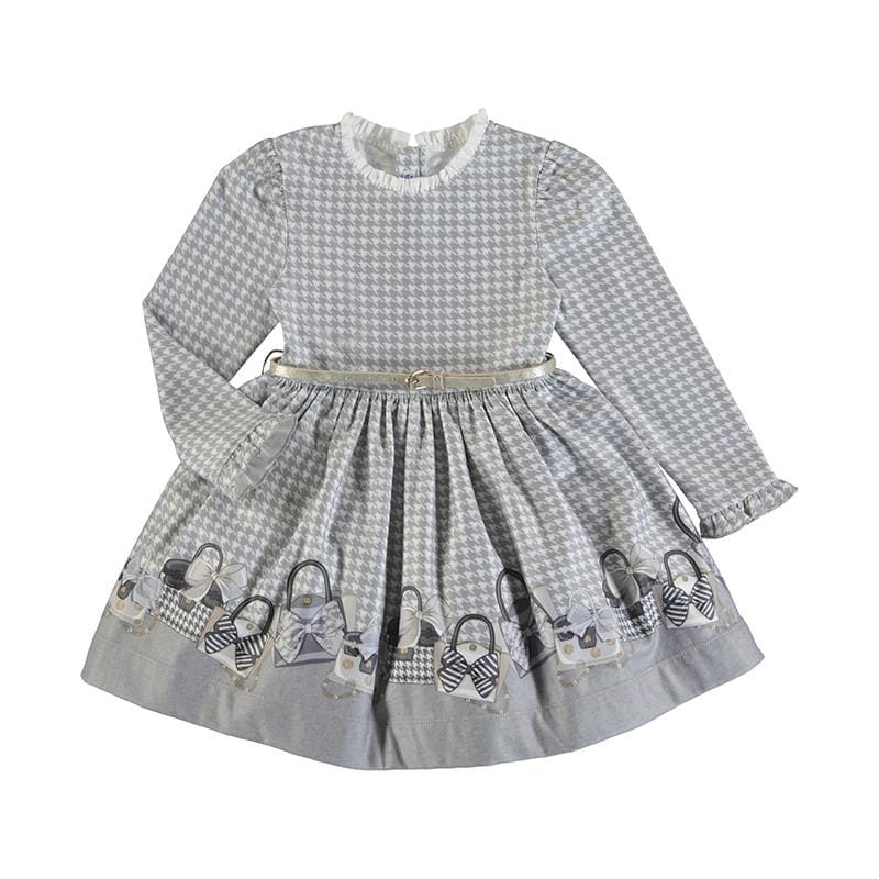 MAYORAL GREY BELTED DRESS