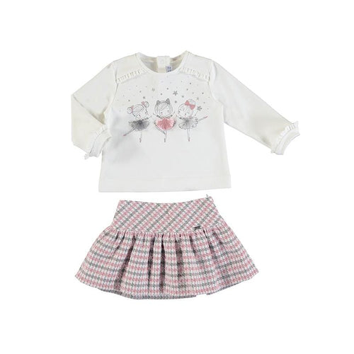MAYORAL TODDLER BALLERINA TOP & SKIRT