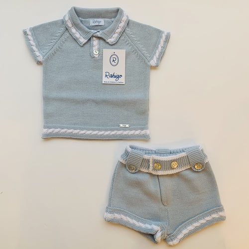RAHIGO BABY BLUE / WHITE JOEY  TWO PIECE SET