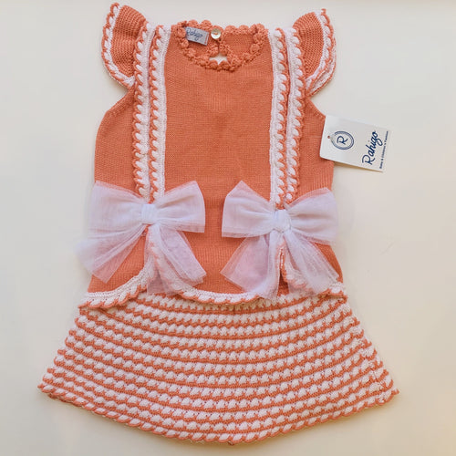 RAHIGO SALMON / WHITE VALENTINA  TWO PIECE SET