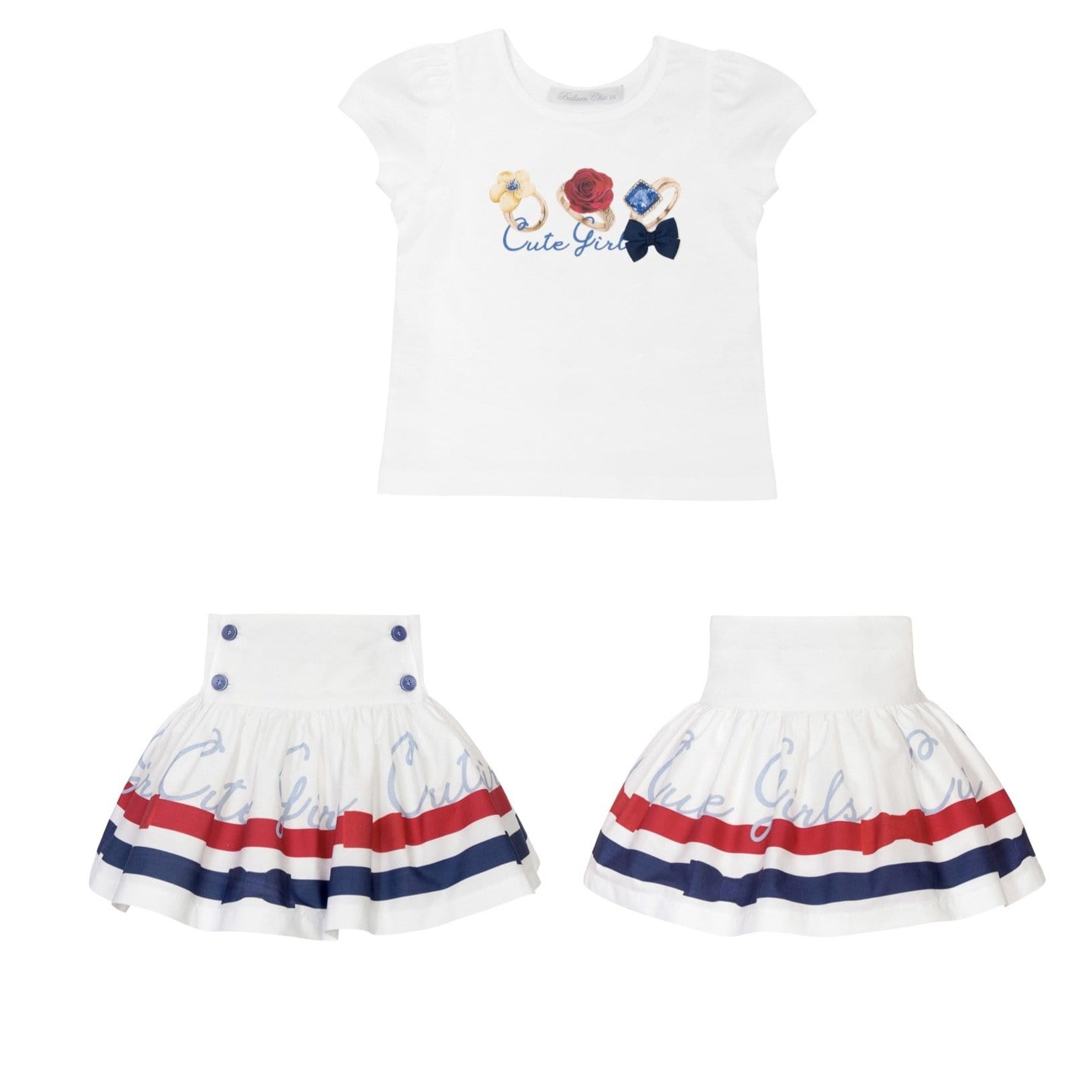 PRE ORDER BALLOON CHIC JEWEL SKIRT SET