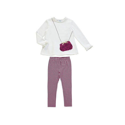 MAYORAL CHERRY HANDBAG GIRL LEGGING SET