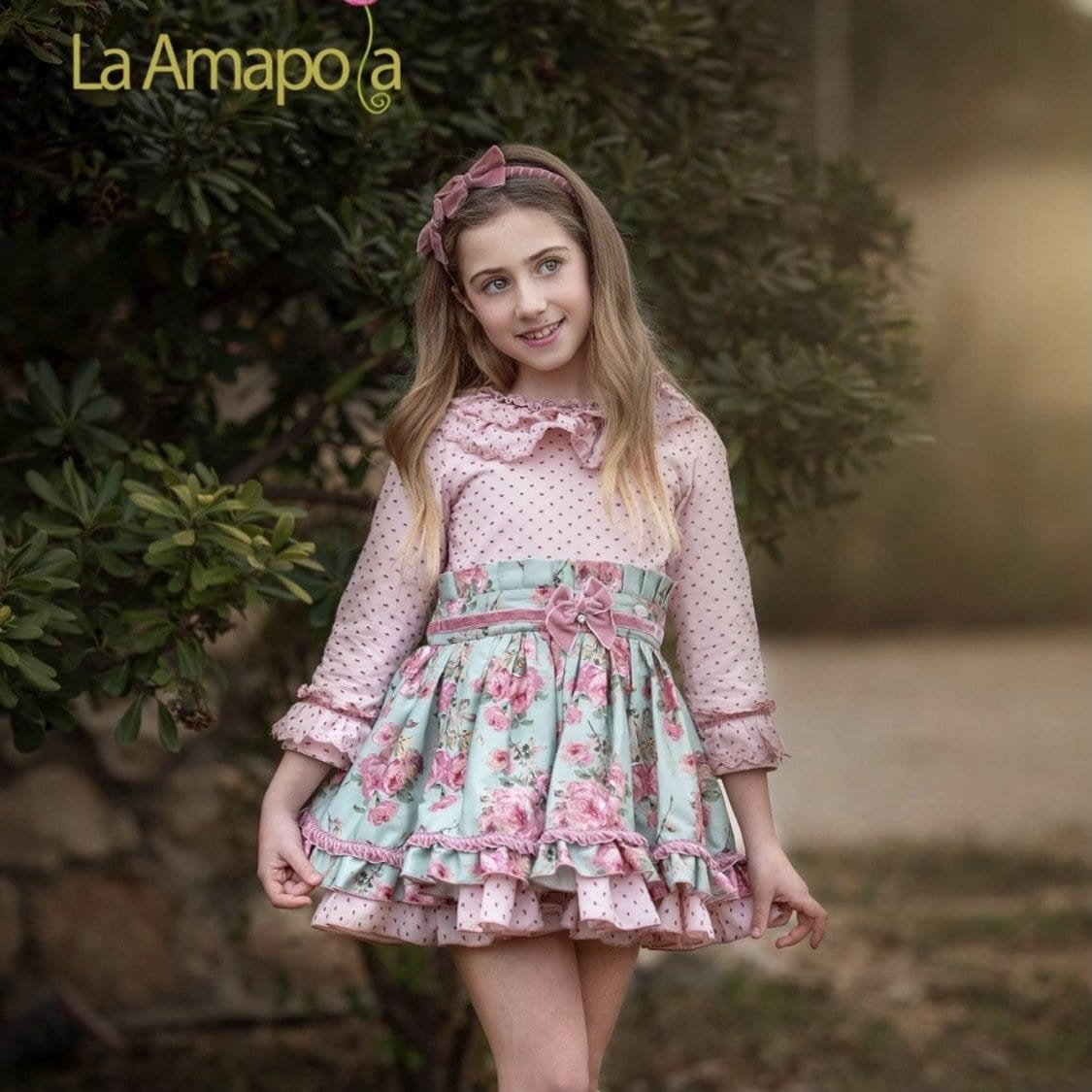 PRE ORDER LA AMAPOLA BEATRIZ  MINT MIX DRESS