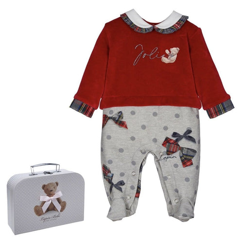 LAPIN HOUSE RED BABYGROW