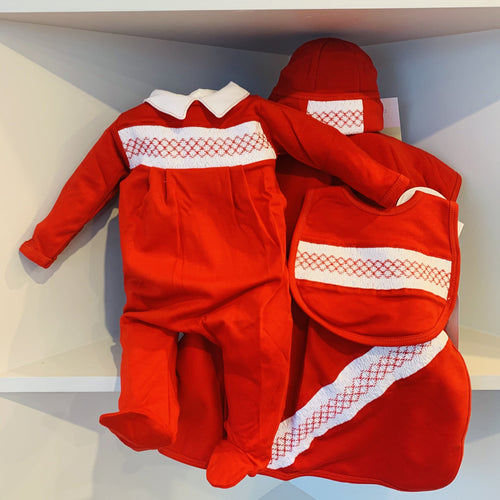 JULIE & JAME'S BOY'S CLASSICS SMOCKED SET
