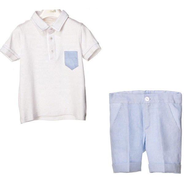 BIMBALO Polo & Linen Short Set
