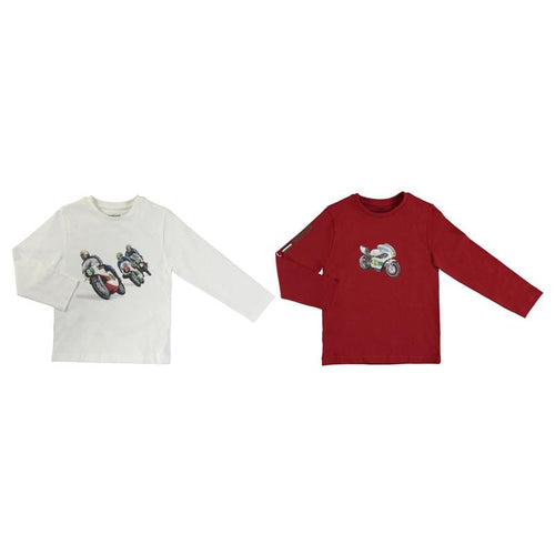 MAYORAL MOTORBIKE LONG SLEVE T SHIRT TWO PACK