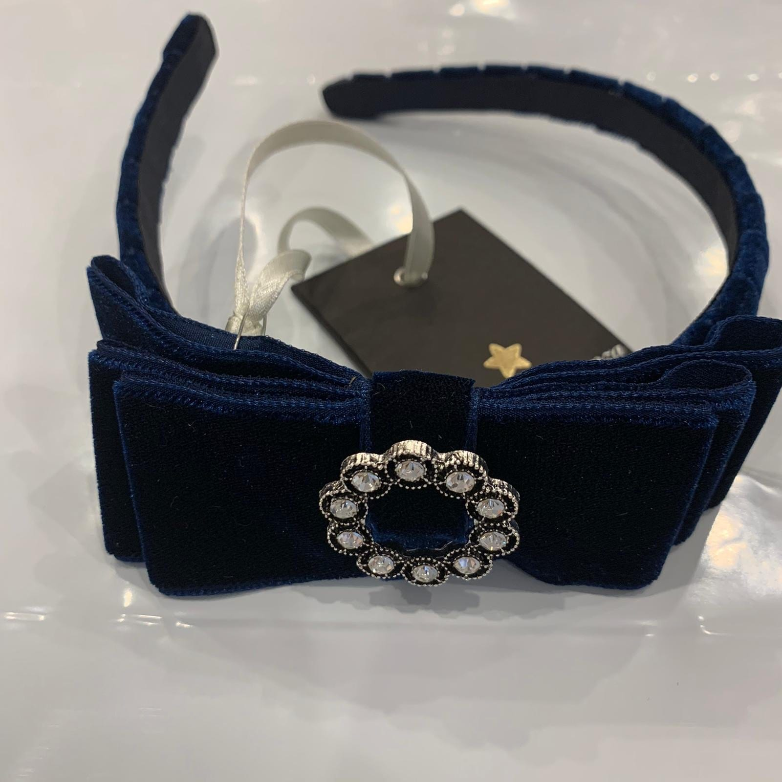 PICCOLA SPERANZA NAVY HAIRBAND