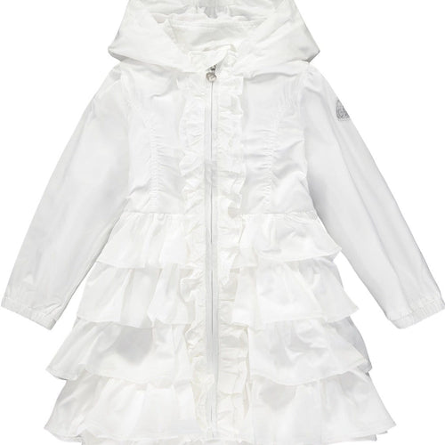 A DEE WHITE  FRILL HOODED JACKET DACIA S204207
