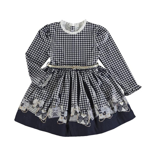 PREORDER MAYORAL NAVY BELTED DRESS