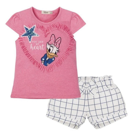 EVERYTHING MUST CHANGE DISNEY DAISY DUCK HEART TOP & SHORTS