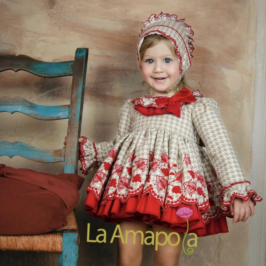 LA AMAPOLA DIVINE RED BABY DRESS