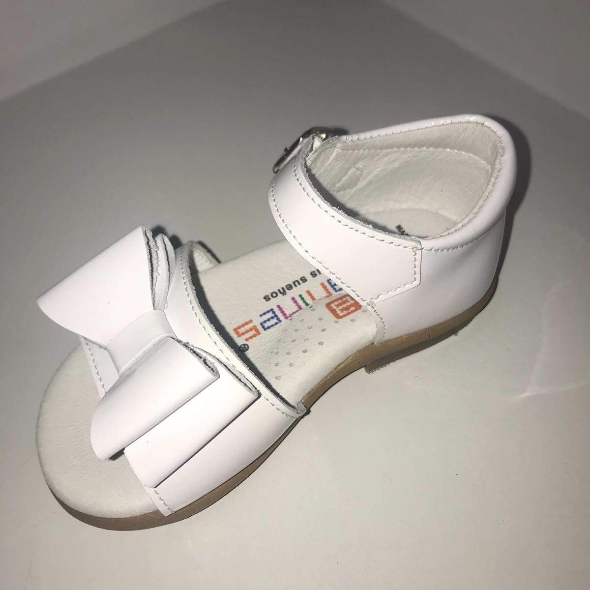 ANDANINES WHITE LEATHER PATENT SANDALS
