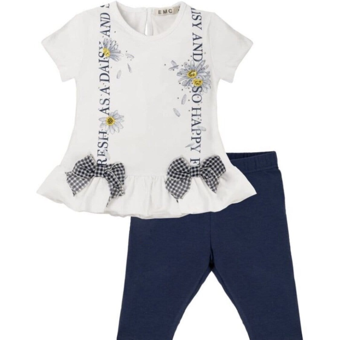 EVERYTHING MUST CHANGE DAISY CHAIN BOW TOP AND LEGGING SET