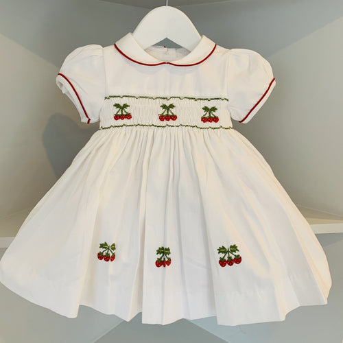 HANDMADE SMOCKED STRAWBERRY DRESS