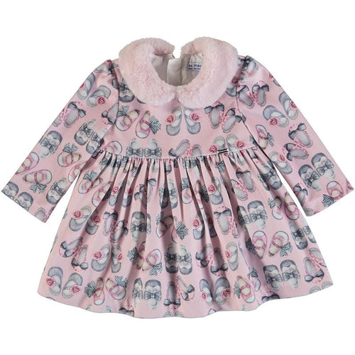MAYORAL TODDLER PINK SHOE DRESS