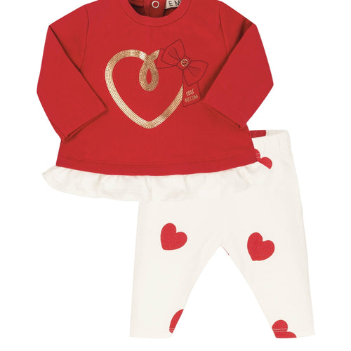 EVERYTHING MUST CHANGE HEART TOP AND LEGGING SET