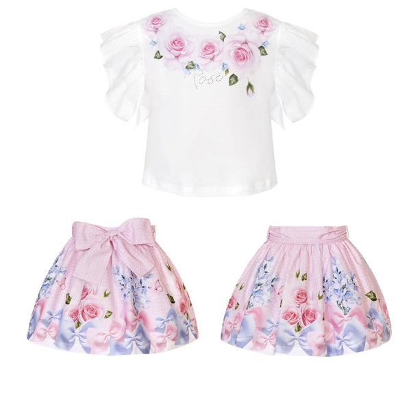 BALLOON CHIC - Rose Skirt Set - Pink
