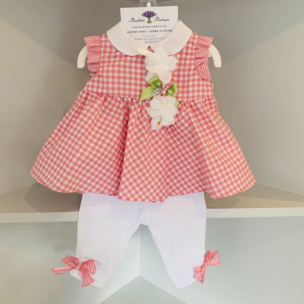BARCELLINO GINGHAM TWO PIECE SET