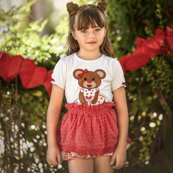 Diverdress - Teddy Jam Pant Set - Red/White