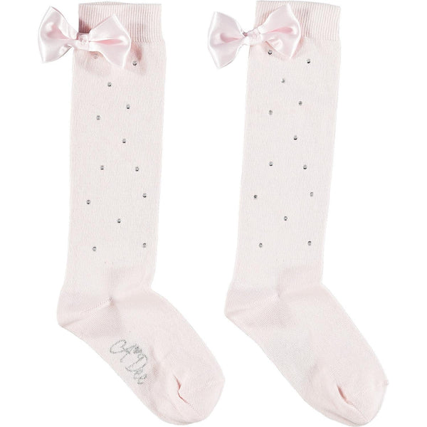 A DEE PINK SPARKLE KNEE HIGH SOCKS