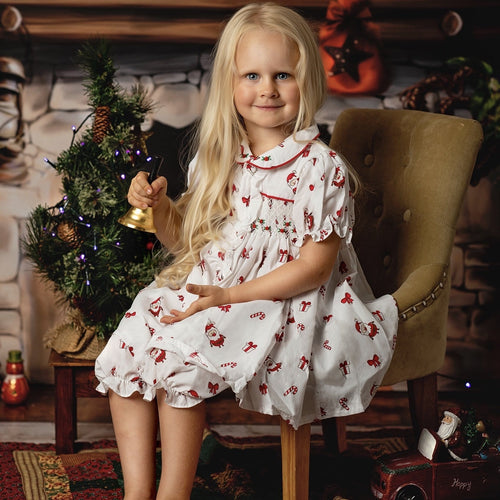 CHRISTMAS SMOCKED TWO PIECE