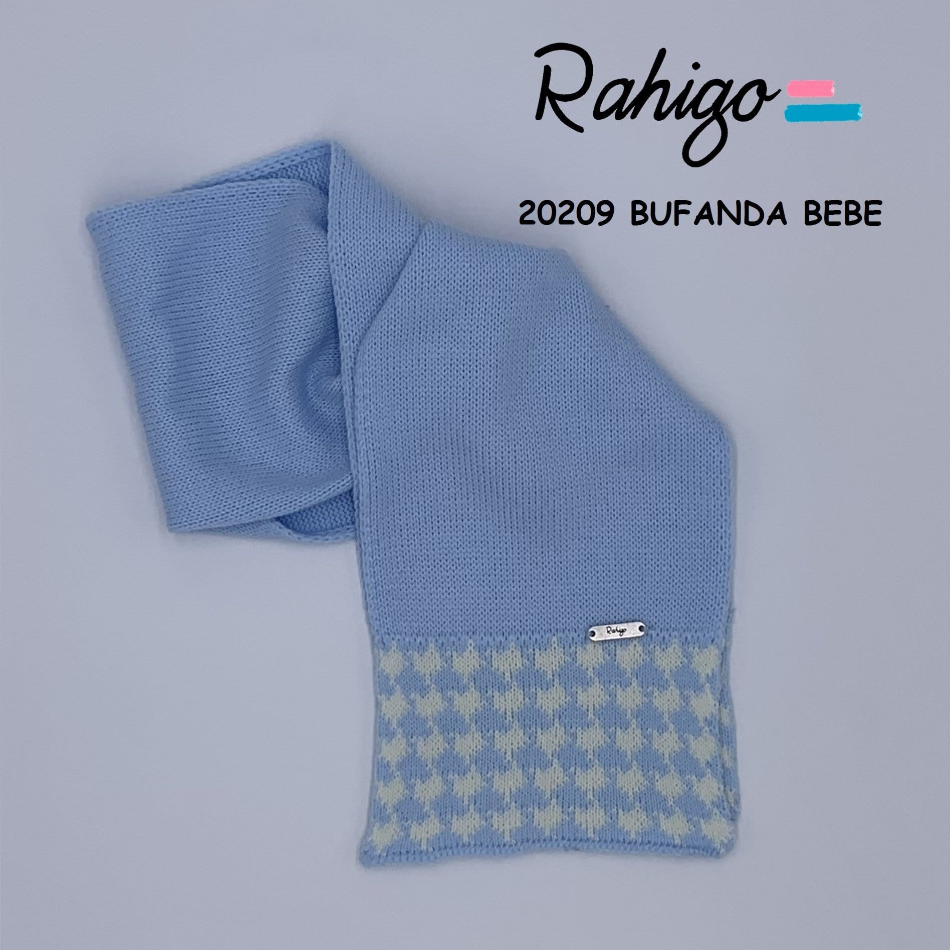 RAHIGO RED DOG TOOTH HAT & SCARF SET