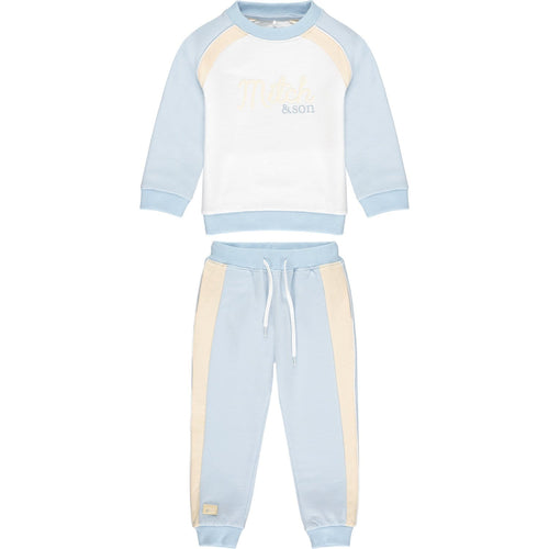 PRE ORDER MITCH & SON PALE BLUE RAGLAN ROPE TRACKSUIT MS21104 BEDFORD