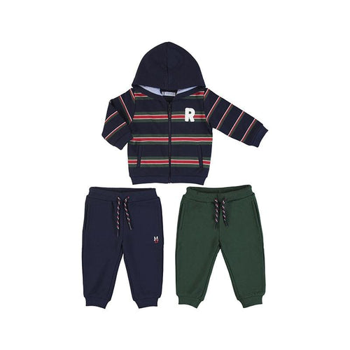 MAYORAL TODDLER BLUE MIXED STRIPED TRACKSUIT