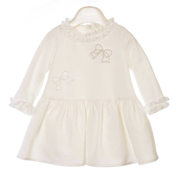 PRE ORDER BIMBALO CREAM BOW DRESS