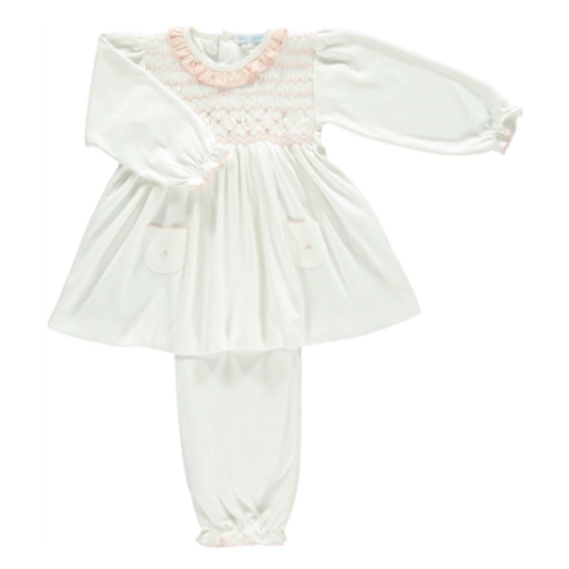 MINI-LA-MODE DAISY SMOCKED PYJAMAS